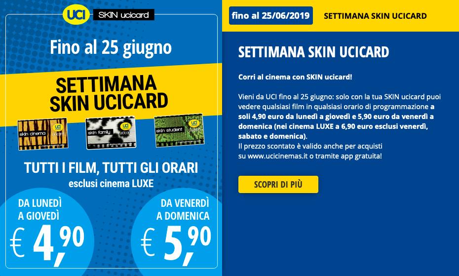 Skin Ucicard Una Settimana Di Biglietti In Promozione