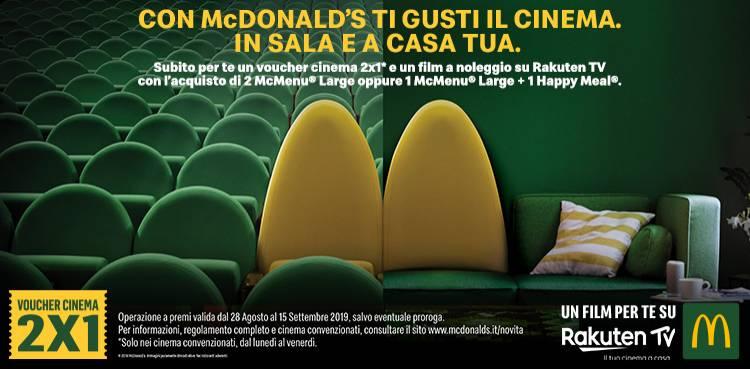 Con McDonald's ti gusti il cinema