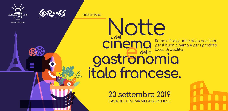 Notte del cinema e della gastronomia italo francese